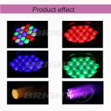Illuminare gli indicatori luminosi mobili delle teste della mini 19*15 lavata di watt LED per la fase