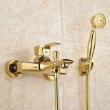 L'oro di Flg ha placcato il rubinetto di vasca da bagno con l'insieme dell'acquazzone della mano