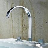 Flg Alfombra de baño grifo de la bañera manija del doble de 3PCS Cascada del canalón