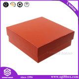 Коробка изготовленный на заказ картона квадрата красного цвета бумажная упаковывая с шлемом
