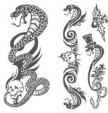 Tatuagem provisório da arte da etiqueta do tatuagem de transferência da água do tatuagem da víbora