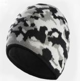Cappello del pattino di inverno lavorato a maglia jacquard su ordinazione per lo sport