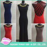 Abend-Schwarz-noble Entwerfer-Partei-Kleider der langen formalen Frauen für Damen