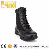 Barata negro cuero genuino de la policía militar táctico del ejército de inicio