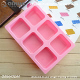 Розовая квадратная прессформа Bakeware силикона аттестации УПРАВЛЕНИЕ ПО САНИТАРНОМУ НАДЗОРУ ЗА КАЧЕСТВОМ ПИЩЕВЫХ ПРОДУКТОВ И МЕДИКАМЕНТОВ для торта Mousse