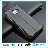 Geuine lederner Mappen-Telefon-Kasten für Samsung-Galaxie S8
