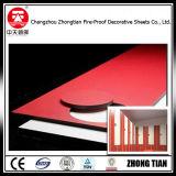 Resistente a Incêndio Compactos fenólicos HPL revestimento de paredes exteriores
