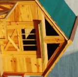 Im Freien hölzernes Möbel-Haus für Hundehaustier