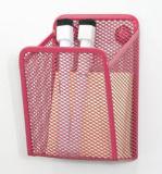 분홍색 책상용 부속품 금속 메시 문구용품 자석 Hanaging/사무실 책상 부속품