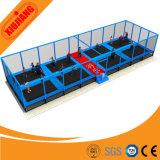 Trampoline высокого качества коммерчески смешной скача с мягкой сетью