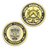 Großverkauf kundenspezifischer Polizeibeamte-Herausforderungs-Münzen-Goldmünze-Halter Keychain