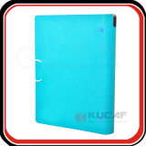 Embossed Logo Elastic Closure PU A5 Ring Binder Folder