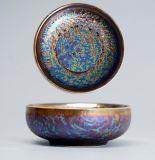 Cinese metallico Teaware della glassa del Teacup della porcellana di Chawan pagato tazza di ceramica della ciotola del tè