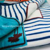 ホームホテルの織物の100%年の綿の縞の青写真Beachtowel
