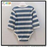Langer Hülsen-Baby-Abnützung-Streifen-Drucken-Kleinkind-Bodysuit