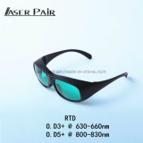Óculos de segurança do laser de IDT 630-660nm&800-830nm V. L. T: 30% para os lasers vermelho, 808nm, diodos laser de 635nm, 808nm Laser, equipamento de beleza da pele
