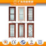 Puerta de aluminio del vidrio helado y puerta del cuarto de baño de la ventana