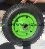 Roda de borracha pneumática para carrinho (4.00-8 / 400-8)