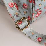يصمّم أسلوب خاصّ بالأزهار [بفك] سحاب نوع خيش [ترف] حقيبة (23097)