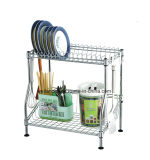 DIY Chrome Metal Kitchen Dish Drainer Rack (CJ-C1137)