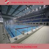 Estructura de acero de la luz de diseño de cubierta de piscina de interior