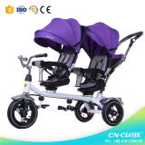 Tricycle à poussette bébé avec tricycle à poussière pour jumeaux