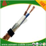 С изоляцией из ПВХ 450/750V медного провода экранирующая оплетка экранированный провод управления гибкой