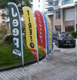 L'extérieur de l'impression par sublimation thermique en fibre de verre de drapeaux de la plage de plumes de la publicité personnalisée tricots de polyester