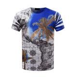 Camiseta impresa OEM de los hombres de la impresión de la sublimación de la camiseta 3D del poliester