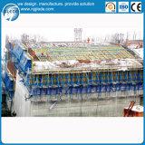 Encofrado concreto de la presa para la construcción de edificios