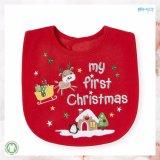 赤い赤ん坊アクセサリスクリーンの印刷の赤ん坊の胸当て