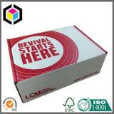 Коробка Flexo красного цвета гофрированная печатью пересылая бумажная