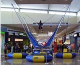 Tremplin gonflable de Bungee de centre commercial pour des enfants, tremplin d'intérieur de Bungee