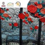 Reizvolles Black&Red Blumen-Form-Spitze-Gewebe 2017 C10002