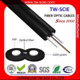 1 Core FTTH Drop avec câble PVC / veste LSZH, autoportant Câble à fibre optique