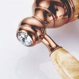 Flg Salle de bain Robinet de peinture à jade avec poignée en cristal