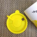 De Kop van het porselein met de Plastic Koker van het Silicone van het Deksel