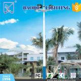 Calle postes de iluminación y mástiles altos