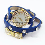 Meninas Fashion Bracelete Banda de couro Relógios de pulso