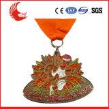 Medaglia della stella del metallo di vendita diretta della fabbrica con il contenitore poco costoso di medaglia
