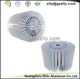Disipador de calor de aluminio de la protuberancia del girasol del LED