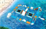 Sosta gonfiabile di galleggiamento dell'acqua dei giocattoli dei giochi di corsa ad ostacoli dell'acqua di migliore qualità da vendere