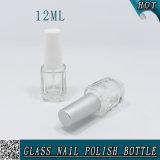 12mlプラスチック帽子およびブラシが付いているニースの正方形のガラスマニキュアのびん