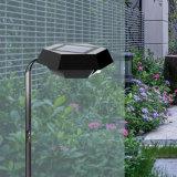 DEL extérieure allumant la lumière de lampe de pelouse de détecteur de panneau solaire