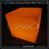 Material LLDPE moldeo rotacional moderno Cubo de plástico de LED de interior silla