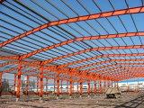 Elegante estructura de acero pintado de la plaza comercial
