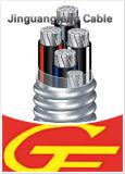 Isolation du câble XLPE d'alliage d'aluminium, blindé auto-bloqueur