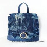 Zaino promozionale del cuoio della tela di canapa delle donne del commercio all'ingrosso di modo (NMDK-042602)