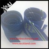Laço de logotipo tecido 100% artesanal de Jacquard de seda personalizada
