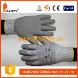2017 13G Hppe Ddsafety Стекловолокно гильзы Защитные перчатки с PU покрытием на упоре для рук